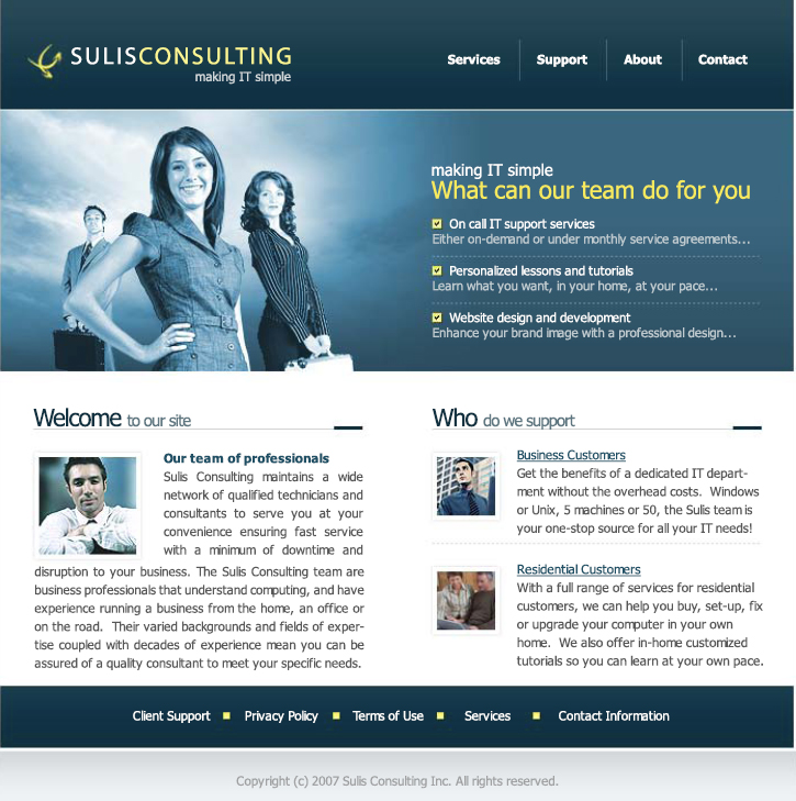 website design php